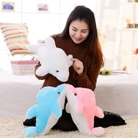 Wholesale Luminous Pillow Teddy - Stuffed Animals Stuffed Animals 1pc 45cm Creative Luminous Plush Dolphin Doll Glowing Pillow, LED Light Plush Animal Toys Colorful Doll