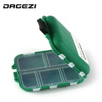 Atacado- DAGEZI Waterproof Eco-Friendly Fishing Tool Lure Bait Tackle Storage Box Case Container com 12 compartimentos