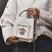 Wholesale factory outlet bags - Factory outlet brand package court fan leather, wome chain bag retro relief photo frame women handbag lovely sweet angel women handbag
