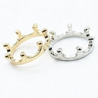 Wholesale One Finger Ring - 2017 Fashion Bijoux Rings Lovely Crown Finger Ring For Women Wedding Jewelry Accessories One Direction Wholesale Anillos
