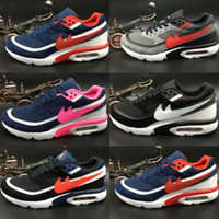 Wholesale Stretch Fabric Womens Shoes - 2017 Max 91 Premium BW Mens Womens Running Shoes Maxes 91 Breathable Sports Trainers size 36-44
