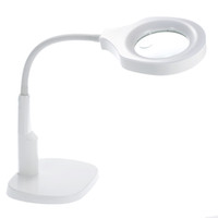 Wholesale Lighted Magnifying Lamp Clamp - Freeshiping 2 in 1 Lighted Magnifier and Desk Lamp Flexible Practical Hands-free Magnifying Tool with C Clamp and Base Holder gafas con lupa