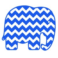 Commercio all'ingrosso 10 pz / lotto Cute Elephant Water Ripples Arte Astratta Grafica Divertente Adesivi Per Auto per Finestra Paraurti Porta SUV Laptop Kayak Decalcomania Del Vinile