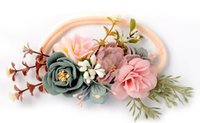 Wholesale Crown For Sale Baby - Nylon Flower Headband Flower Crown Hair Band For Newbron Baby Hair Accessory Photo Prop Hot Sale
