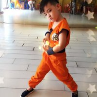 Wholesale Dragon King Movie - clothes Japan Anime Kids Dragon Ball Z Costume Son Goku Monkey King Cosplay Clothes Halloween Party Wear free shipping
