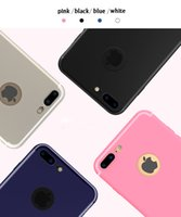 Wholesale Matte Rubber Wholesale Cases - For iPhone 8 Candy Color Ultra Thin Slim Matte Frosted Shockproof Full Protective Soft Silicone Rubber TPU Cover Case For iPhone 7 Plus 6 6S