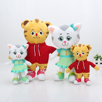 Wholesale Daniel Tiger Neighborhood - 2pcs set 20cm 30cm Daniel Tiger's Neighborhood Tiger Katerina Cat Friends Plush Doll Stuffed Toys collection small gifts