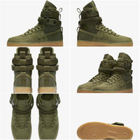 Wholesale Drop Shipping Boots - Drop Shipping Famous Special Forces Force 1 One Boots Faded Olive Faded 859202 339 Mens Womens Sport Athletic Trainers 36-45