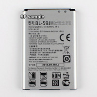 Wholesale Optimus F3 - New 3.8V Rechargeable Li-ion Battery For LG F3 F5 P703 P713 P715 VS870 Lucid2 Optimus BL-59JH 2460mAh Batteria Batterie Batterij