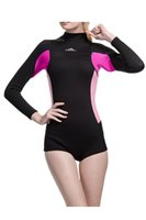 Wholesale Wetsuit 2xl - Wowforu Womens 2mm Neoprene Long Sleeve Jacket Front Zipper Wetsuit Top