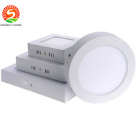 Wholesale Panel Mounted Switches - Promotion Sale Surface mounted led downlight Dimmable panel light SMD2835 Ultra thin circle ceiling kitchen Bathroom free shipping