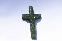 Wholesale Jade Jesus Pendant - Jade the cross of Jesus Christ, the talisman necklace pendant.