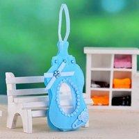 ingrosso bottiglia del bambino nuovo-Nuovo arrivo-blu / rosa stile regalo borse scatola di caramelle con fionda per Guest Baby Shower Compleanno Decorazioni per la casa