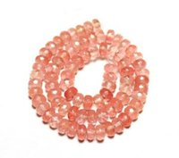 Wholesale Watermelon Faceted Beads - Wholesale Women's Girl's Wholesale 5*8 mm Wheel Faceted Beads Watermelon Red Crystal Natural Stone Beads For Jewelry Making DIY