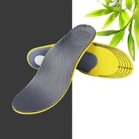 Wholesale Insole Breathable - Comfortable and breathable Sports shock-absorbing insole, high elasticity EVA ventilation massage correcting insole for men and women