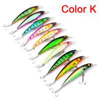 Wholesale lures 11cm - High Quanlity Minnow Fishing lure Freshwater Fishing 13.4g 11cm 10colors ABS Plastic Wobbler Hard Bait Fishing Tackle