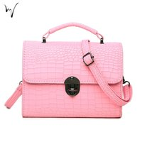 Wholesale Cheap Multi Color Handbags - Alligator Chic Ladies Crossbody Handbags Quality Cover Lolita Low Discount Direct Sale Large Factory Schoolgirl Holiday Cheap Wholesale Bag