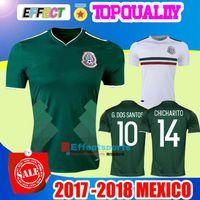 Wholesale G L - New Arrived 2017 2018 Mexico Soccer Jersey Home Away 17 18 Green CHICHARITO Camisetas de futbol Hernandez G DOS SANTOS football shirts