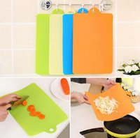 Wholesale Flexible Plastic Cutting Board - Flexible PP Plastic Non-slip Hang Hole Cutting Board 38*24cm Food Slice Cut Chopping Blocks Cooking Tools OOA3704