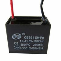 Wholesale Motor Start Capacitors - Wholesale- CBB61 capacitor 450v4uF fan starting capacitor 450v motor capacitor