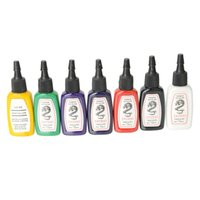 Wholesale complete cosmetic set - Professional 7 Colors Permanent Bright Tattoo Ink Pigment Complete Set 1 2 oz  Bottle Body Paint Makeup Cosmetic Kit Brazil