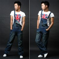 Wholesale denim overalls loose Men suspenders Men s trousers fertilizer plus size men s wear overalls promotion