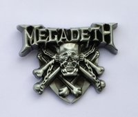 Wholesale Music Buckles - Megadeth Band Rock Music Belt Buckle SW-BY520 suitable for 4cm wideth snap on belt with continous stock