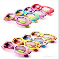 Wholesale Kids Girls Fashion Trend - DHL Girl Sunglasses New Children's Sunglasses Cute Summer UV400 Fashion Kids Glasses Flower Sun Glasses Trend Accessories