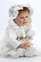 Wholesale Doll Silicone Child - 55 cm Reborn Baby Dolls Silicone Lifelike Handmade limited Collection Doll Girl lifelike baby dolls for children