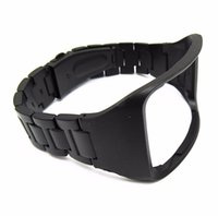 Wholesale Bracelet S Steel - Black Stainless Steel Replacement Bracelet Wristband For Samsung Galaxy Gear S SM-R750 Watch Band Strap