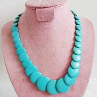 Wholesale Huge Turquoise - Natural Stone Necklaces Fantastic Huge Multilayer Turquoise Necklace Baroque Sheets Chunky Flake Summer Irregular Choker Necklace Jewelry