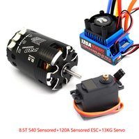 Wholesale Black T Sensored Brushless Motor A ESC kg Servo for RC Car On Off Road suit