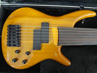 Wholesale Cost Electric Guitar - Fretsless custom bass guitar Alder body Maple neck Rosewood fingerboard 7 string electric bass guitar low cost and free shipping