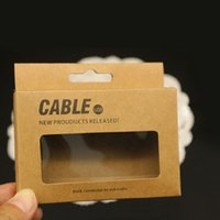 Wholesale Noodle Cable Retail Package - 95*75*15mm Universal USB Charger Cord Craft Kraft Paper Packaging Box Retail Package for Samsung S4 Note 3 iPhone 6 5 Sync Data Cable 1M 3Ft