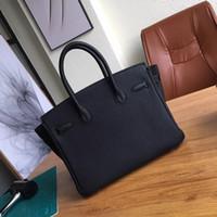 Wholesale Real Fur Handbags - Medium size 30cm real leather women handbag new style luxury fashionable bag
