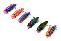 Wholesale Small Worm Lure - Mini ABS Plastic Artificial Popper Fishing Lures 3.5cm 2.7g Small Topwater Fishing Freshwater Poper Bait Hooks
