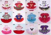 Wholesale Girl S Tutu Dresses - Baby Romper Dress Christmas Xmas Rompers+Headband 2 Pieces Set Baby Girl Tutu Dress 12 S l