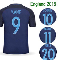 Wholesale New England Football Jersey - Brand New Thailand ENGLAND soccer shirts 2017 2018 ROONEY VARDY KANE DELE BECKHAM soccer jerseyS 17 18 camisa football shirtS jersey futebol