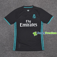 Wholesale Player Version Real Madrid Away Football Soccer Jerseys Black Shirts