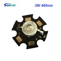 Wholesale Star Pcb - Wholesale- 10pcs Royal Blue 460nm 3W led grow light chip with pcb star for plant grow ,45mil Epileds led diodes