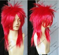 Wholesale China Synthetic Wigs - China Curly Red Wig Afro Kinky Synthetic Women's Wig Kinky Curly Synthetic Wig Perruque Synthetic Women