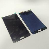 not digitizer bölümü toptan satış-Samsung Galaxy NOT için 4 N910A N910F Yeni Test Yüksek Kalite LCD Dokunmatik Ekran Digitizer Yedek Parçalar Beyaz Siyah Ücretsiz Kargo