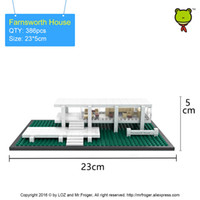 Wholesale Toy Wooden House Block - model brick Mr.Froger LOZ Mini Blocks Farnsworth House Model Bricks Building Blocks World Famous Architecture Educational Toys For Children