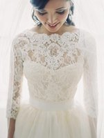 Wholesale Bridesmaids Shawls Wraps - New Lace Bridal Shrug Wrap Cape Shawl Bolero Jacket Coat Perfect For Wedding Bride Bridesmaid 3 4 Long Bridal Accessories Wrap