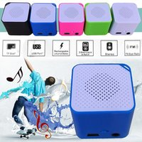 Wholesale Speaker For Tf Sd - New Arrival USB Mini MP3 Player Music Media Player Support 16GB Micro SD TF Card Speaker