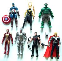 Wholesale Ironman Action Figures - Marvel's The Avengers action figures 7pcs set 15-18cm Super hero Marvel The Avengers action figures wholesale price toys Ironman
