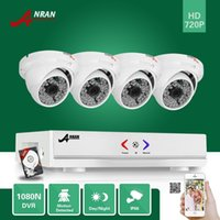 Wholesale Video Camera Hdmi - ANRAN Surveillance 4CH HDMI 1800N AHD DVR With 500GB HDD 1800TVL 720P 48 IR Outdoor Waterproof Dome Video Security Camera CCTV System