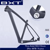 mtb frame toptan satış-Güncelleme 2018 T800 karbon mtb çerçeve 29er çatal ile eşleştirmek için 29er tam karbon dağ bisikleti çerçeve bisiklet çerçeve
