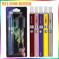 e cigarrillo atomizador evod al por mayor-MT3 EVOD Blister Kits Mt3 Atomizador Evod Battery Ego Evod Mt3 Kits 650mah 900mah 1100mah 510 Hilos Cartucho de batería E Kits de cigarrillos
