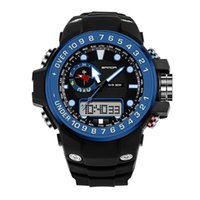 2017 Moda Men's Watch Men Outdoor Waterproof Led Sports Relógios Digital Quartz-Watch erkek kol saati montre relogios drop shipping